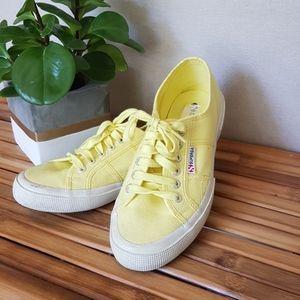 Superga rare yellow sneakers size 39